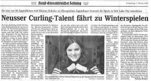 Kiki Seibicke bei Olympia (NGZ, 07.02.2002)